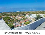 roofs of houses made of red... | Shutterstock . vector #792872713