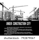 under construction city concept ... | Shutterstock .eps vector #792879067