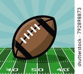 american football bowl... | Shutterstock .eps vector #792898873