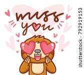 cute sloth character with... | Shutterstock .eps vector #792919153