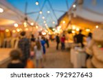 abstract blur people in night... | Shutterstock . vector #792927643
