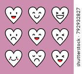 emoticon love character pink... | Shutterstock .eps vector #792932827