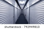 storage units on a blue... | Shutterstock . vector #792949813