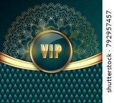 elegant vip invitation card... | Shutterstock .eps vector #792957457