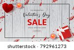 happy valentine's day sale web... | Shutterstock .eps vector #792961273