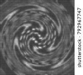halftone radial black and white ... | Shutterstock .eps vector #792967747