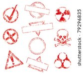 a collection of rubber stamps... | Shutterstock .eps vector #79296835