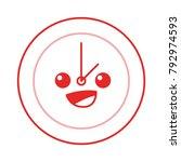color line happy circle clock... | Shutterstock .eps vector #792974593