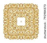 vector square vintage decor ... | Shutterstock .eps vector #792984373