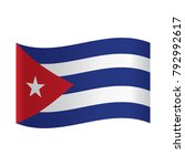 cuba flag  official colors and... | Shutterstock .eps vector #792992617