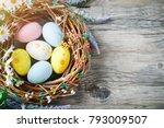 happy easter. congratulatory... | Shutterstock . vector #793009507