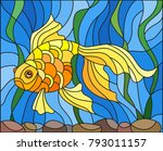 illustration in stained glass... | Shutterstock .eps vector #793011157