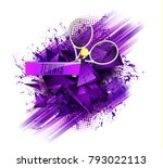 abstract blue background sport... | Shutterstock .eps vector #793022113