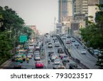 city traffic late afternoon... | Shutterstock . vector #793023517
