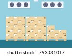 warehouse freezer  cold storage ... | Shutterstock .eps vector #793031017