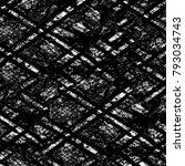 grunge texture. black and white ... | Shutterstock . vector #793034743