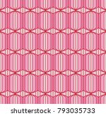 seamless retro pattern with... | Shutterstock .eps vector #793035733