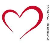 heart  love  simple graphic... | Shutterstock .eps vector #793050733
