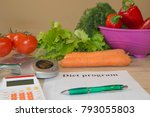 concept diet and weight loss on ... | Shutterstock . vector #793055803