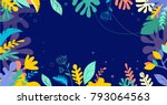 colorful  vibrant colors palm... | Shutterstock .eps vector #793064563