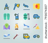 icon set about beach and... | Shutterstock .eps vector #793074307
