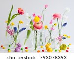 beautiful flowers bouquets in... | Shutterstock . vector #793078393