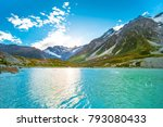 beautiful nature in mt cook... | Shutterstock . vector #793080433