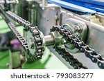 gear and chain drive shaft in... | Shutterstock . vector #793083277