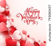 valentines day abstract... | Shutterstock .eps vector #793083457