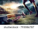 the soccer football players at... | Shutterstock . vector #793086787