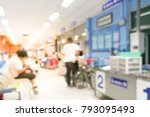 blur image of people in clinic...   Shutterstock . vector #793095493