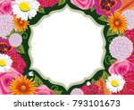 A Floral Illustration With A...