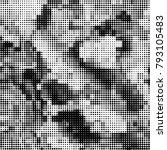 black and white halftone.... | Shutterstock .eps vector #793105483