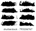 vector collection of artistic... | Shutterstock .eps vector #793106767
