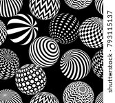 vector abstract 3d effect... | Shutterstock .eps vector #793115137