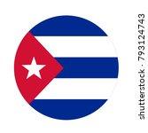 vector illustration of cuba flag | Shutterstock .eps vector #793124743