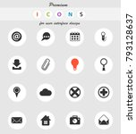 user interface vector icons for ... | Shutterstock .eps vector #793128637