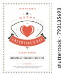 happy valentines day party... | Shutterstock .eps vector #793135693