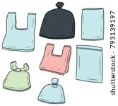vector set of plastic bag | Shutterstock .eps vector #793139197
