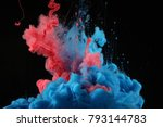 acrylic colors in water. ink... | Shutterstock . vector #793144783