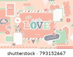 cute romatic design. perfect... | Shutterstock .eps vector #793152667