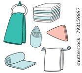 vector set of hand towel | Shutterstock .eps vector #793159897