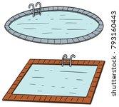 vector set of swimming pool | Shutterstock .eps vector #793160443