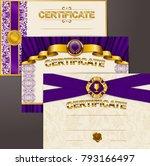 elegant template of certificate ...   Shutterstock .eps vector #793166497