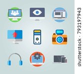 icon set about devices. with... | Shutterstock .eps vector #793197943