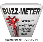 A Thermometer Marked Buzz Mete...