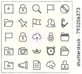 office line icons set push and... | Shutterstock .eps vector #793206373