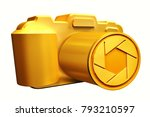 Gold Retro Film Photo Camera...