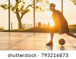 young black man playing... | Shutterstock . vector #793216873