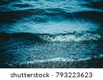 river waves on the shore of...   Shutterstock . vector #793223623